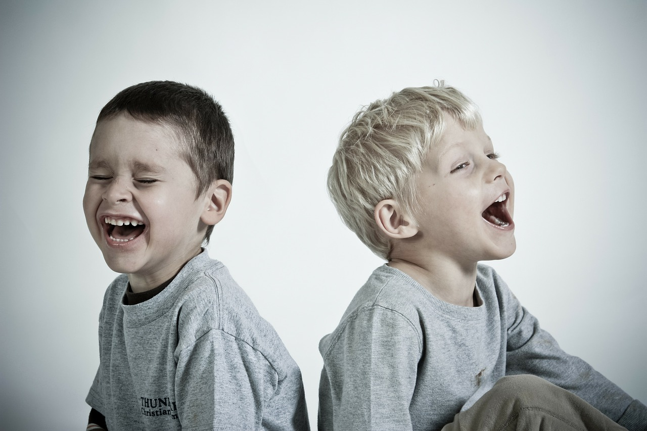 happy, kids, boys